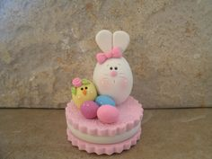 Bunny and Chick on Easter Cookie