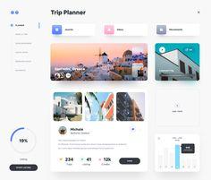 Dribbble - by Faria Web Design Mobile, Web Mobile, Modern Web Design, Dashboard Design, App Ui Design, Dashboard Ui, Flat Design, Graphic Design, Interface Web