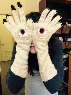 Amazing gloves inspired by Pan's Labyrinth ... made by Katie Freeman #knit #knitting #knithacker