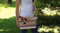 The colorful Nicole Youth bag is made of beige leather with bright and colorful Pima and Tangüis cotton with satin threads. The cotton and metal accents make this bag a fun addition to your wardrobe. The interior contains interior pockets, and is fully lined and the bag has a zipper closure. You also receive an adjustable long leather strap if you want to wear the bag over your shoulder. Price $265.50
