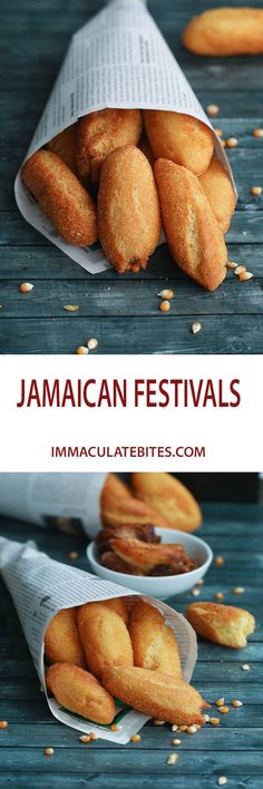 Festival (Caribbean Dumpling) Jamaican Festival (Caribbean Dumpling) Fried , paired with Mango Coleslaw and Jamaican fried Fish.Jamaican Festival (Caribbean Dumpling) Fried , paired with Mango Coleslaw and Jamaican fried Fish. Jamaican Cuisine, Jamaican Dishes, Jamaican Recipes, Jamaican Festival Bread Recipe, Jamaican Appetizers, Jamaican Desserts, Carribean Food, Caribbean Recipes, Jamaica Food