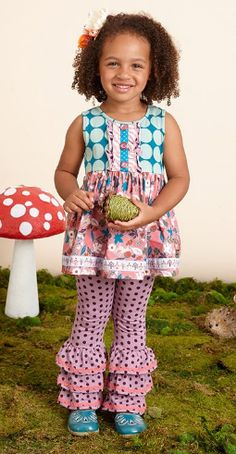 Matilda Jane~Once Upon a Time~ R2 Always be a Unicorn Sara Top, size 6 and Guess the Riddle Bennys, size 6