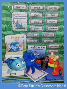 Pout Pout Fish Writing Centers #teacher #writing www.FernSmithsClassroomIdeas.com
