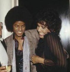 Lena with Michael Jackson and Quincy foolin'around.~ Kai