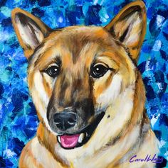 Shiba Dog - Acrylic painting - ART PET  CAROL WANG