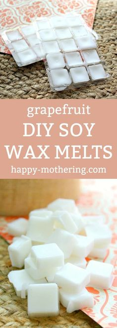 Do you love your wax warmer, but want to save some money on your soy wax melts? We'll show you how to make grapefruit scented DIY soy wax melts!