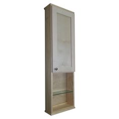 Shaker Series 42 Inch Natural Finish 12 Inch Open Shelf On The Wall Cabinet