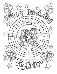 Printable Personalized Maze Name Activity Page By CustomizableArt