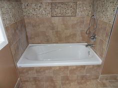 Tiled Bathtub. Jacuzzi Bath Shower Combination Built In Tiled ...