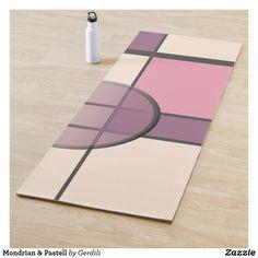 Mondrian & Pastell Yogamatte Piet Mondrian, Yoga, Office Supplies, Graphics, Pictures, Constructivism, Pastel