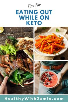 I have been on the keto diet for a while and have needed some eating out tips. Eating out on the keto diet is not as difficult as it seems especially since reading this keto article! It even has great tips of a gluten free diet! Healthy Lifestyle Tips, Healthy Living Tips, Healthy Habits, Healthy Tips, Sugar Free Diet, Gluten Free Diet, Healthy Low Carb Recipes, Healthy Snacks, Keto Recipes