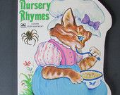 "Vintage Children's Board Book ""Nursery Rhymes"" pictures by Lilian Obligado"