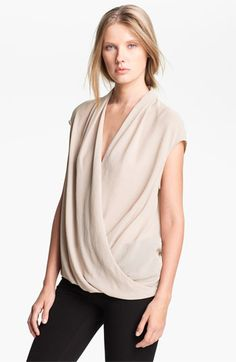 Helmut Lang 'Soft Shroud' Twist Front Blouse available at #Nordstrom
