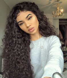 Uhair Indian Virgin Hair Kinky Curly 3 Bundles With Lace Closure Unprocessed Human Hair Best Human Hair Wigs, Short Hair Wigs, Long Curly Hair, Curly Hair Styles, Natural Hair Styles, Curly Full Lace Wig, 360 Lace Wig, Lace Wigs, Stylish Short Hair