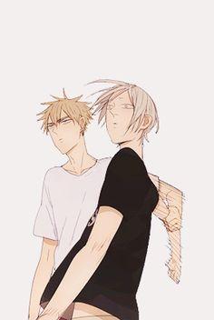 """tugging boyfriends (✿ ♥‿♥) """