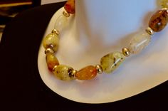 Vintage Amber beaded-Bohemian style-Art Deco by mytimevintage