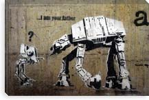 I Am Your Father by Banksy Canvas Print #2083