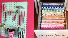 50 Clever Craft Room Organizing Ideas for DIY Projects and Crafts Bedroom Organization Diy, Craft Organization, Craft Storage, Organizing Ideas, Storage Ideas, Diy And Crafts Sewing, Diy Crafts, Paper Crafts, Crafts For Teens