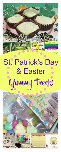 Yummy Holiday Treats for St. Patrick's Day and Easter Easter Snacks, Easter Treats, Easter Dishes, Holiday Treats, Holiday Fun, Holiday Recipes, Yummy Treats, Sweet Treats, St Patricks Day Food