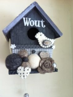 Birdhouse made for baby Wout