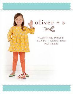 Playtime Dress, Tunic + Leggings - PDF Pattern - Oliver+S - $15.95 : Whimsical Designs