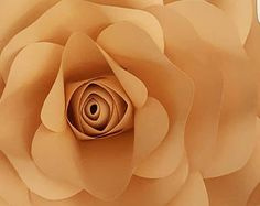 Paper Flower Large Rose Template PDF file #13 with video tutorial..