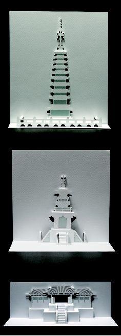 9층 석탑(위), 2011 / 다보탑(가운데), 2013 / 불국사(아래), 2011, 박석