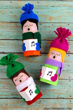 Toilet Paper Roll Christmas Carolers - so fun for a kids craft!