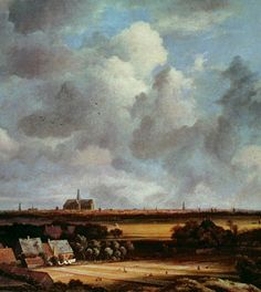 "Jacob Isaackszon van Ruisdael (1628–1682), ""View of Haarlem from the Dunes at Overveen,"" ca. 1670. Oil on canvas, Mauritshuis, The Hague #nyusurvey2"