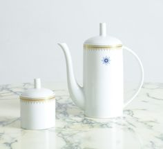 Ceramic Coffee Pot and Sugar Bowl by Alessandro Mendini for Alessi Tendentse  | 1stdibs.com