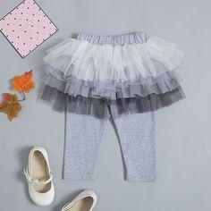 4de478cd0f433 US $15.8 |Aliexpress.com : Buy 2018 Hot Selling Kids Girl Culottes Cute  Grey Cotton Leggings Pants Skirt Party Skirts Children Gauze Tutu Trousers.