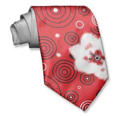 Rot-Weiß-Schwarz-Kreation, Künstler-Krawatte