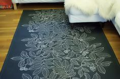 DIY dropcloth rug | My Life : Luxperdiem