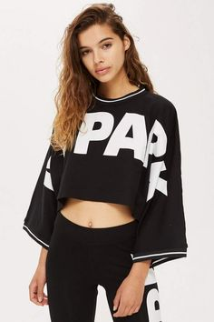 158a0e47163 Cropped Oversized Logo T-Shirt by Ivy Park - Clothing Brands - Brands. Topshop  USA