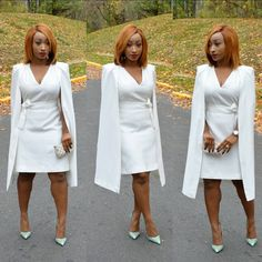 """2,582 Likes, 219 Comments - Chic Ama (@chicamastyle) on Instagram: """"Dress from @cmeocollective #cmeocollective loving this white cape dress😍😍😍😍😍. wore this few days…"""""""