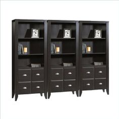 Sauder Shoal Creek Wall Bookcase with Doors in Jamocha Wood by Sauder. $568.14. Sauder Shoal Creek Library with Doors in Jamocha Wood (included quantity: 3) Sure, lots of office and home furnishing manufacturers can help you create an organized, comfortable and fashionable place to live. But Sauder provides a special kind of furniture that is practical and affordable, as well as attractive and enduring. As North America's leading producer of ready-to-assemble fur...