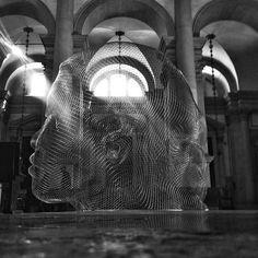 Juame Plensa- Together at San Giorgio Maggiore in Venice  Photo by Jason Bolkano