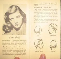 Lauren Bacall hair setting pattern