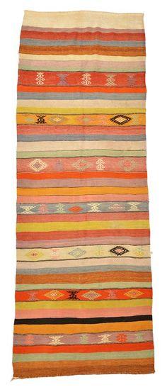Vintage Sivas Kilim Rug around 40 years old.