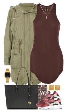 """Untitled #1477"" by power-beauty ❤ liked on Polyvore featuring Majolie Collections, Topshop, Michael Kors, With Love From CA, Rick Owens, Betsey Johnson and Casio"