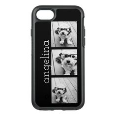 Trendy 3 Photos and Name OtterBox Symmetry iPhone Case Otter Box, Latest Iphone, Square Photos, Synthetic Rubber, Monogram Gifts, Iphone Case Covers, Ipad Case, Iphone 11, Apple Iphone