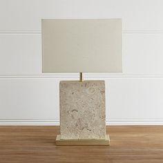 Mactan Stone Table Lamp | Crate and Barrel