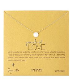 Dogeared Pearls of Love White Pearl Necklace, Gold Dipped 18 inch – Blue Daisy