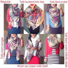 Ways to wear your Blanket scarf