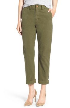 Madewell High Rise Straight Leg Chino Pants available at #Nordstrom