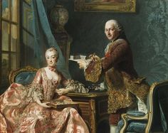 Architect Jean Rodolph Perronet and his wife, 1759,Alexandre Roslin