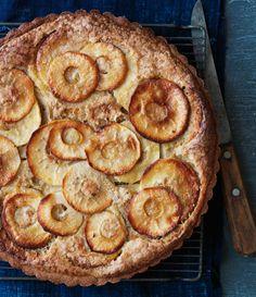 Brown Butter Apple Tart - Bon Appétit :: Another possible dessert? Apple Desserts, Just Desserts, Fall Desserts, Thanksgiving Desserts, Tart Recipes, Dessert Recipes, Dessert Tarts, Dessert Healthy, Apple Recipes