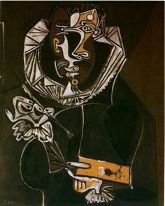 Picasso, Portrait d'un peintre (d'après El Greco) Vallauris, 22-Février 1950 huile sur bois 100,5 x 81 cm Picasso-Sammlung der Stadt Luzern, Suisse.