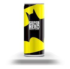 SUPERHERO (Energy Drink) /// Batman /// by Mike Karolos /// via Behance