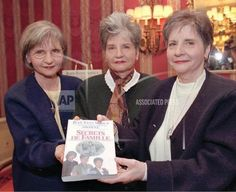 L-R: Yvonne, Annette and Cecile Dionne with their book, Family Secrets, 1995 Ontario, Canada 150, Canadian History, Cecile, Little People, Birthday Celebration, Royals, Marie, Random Stuff
